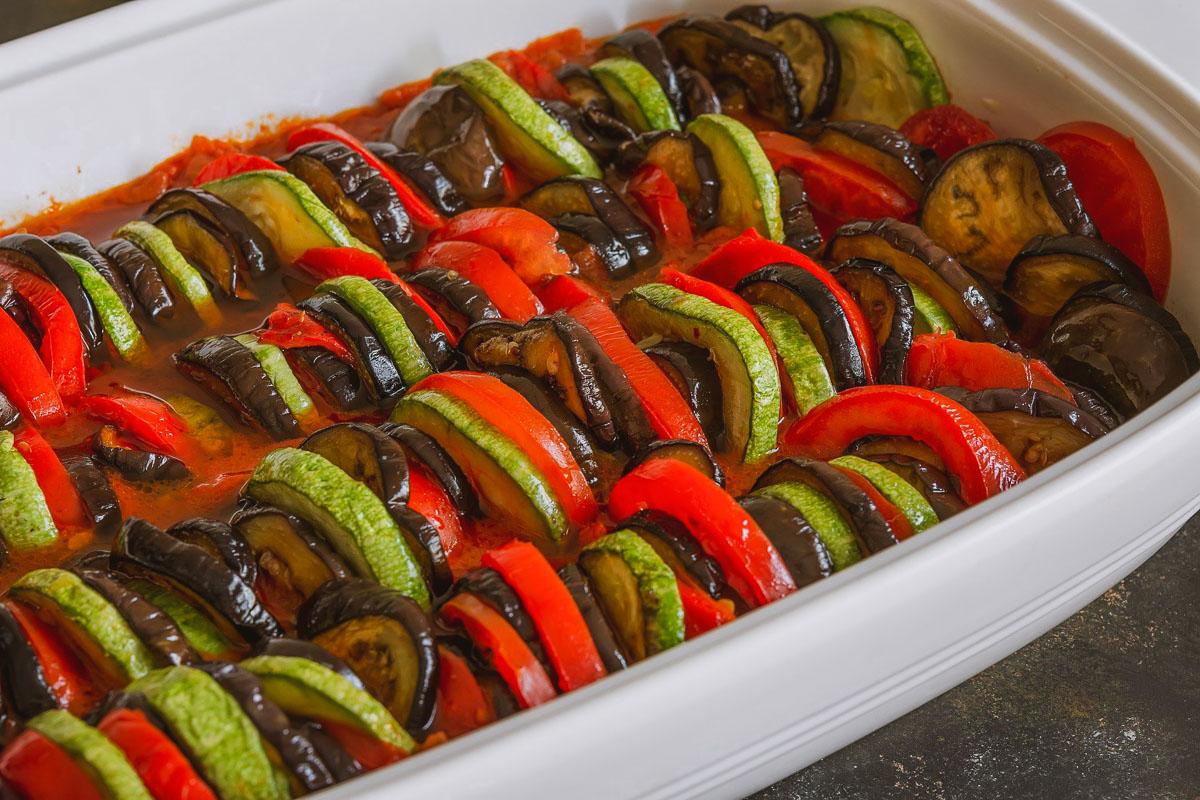 Briam Roasted Vegetables Greek Ratatouille