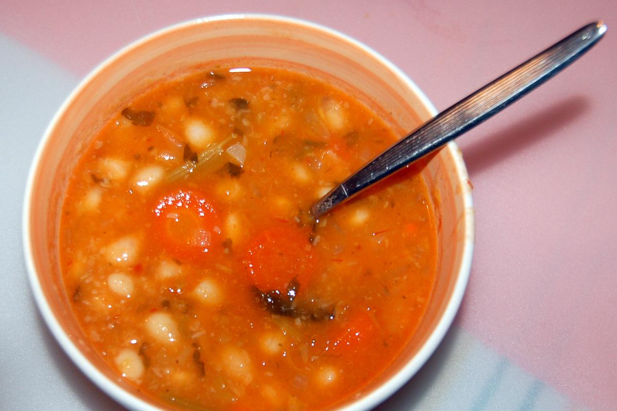 Fasolada White Bean Soup Food in Greece