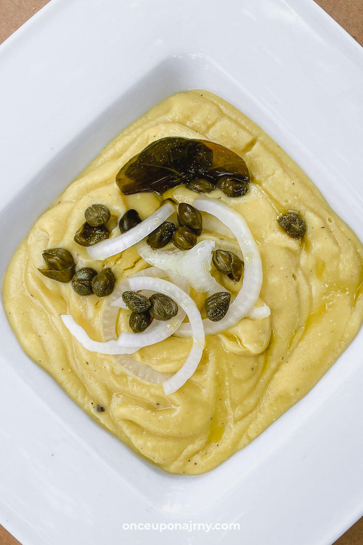 Fava Split Pea puree Greek dishes