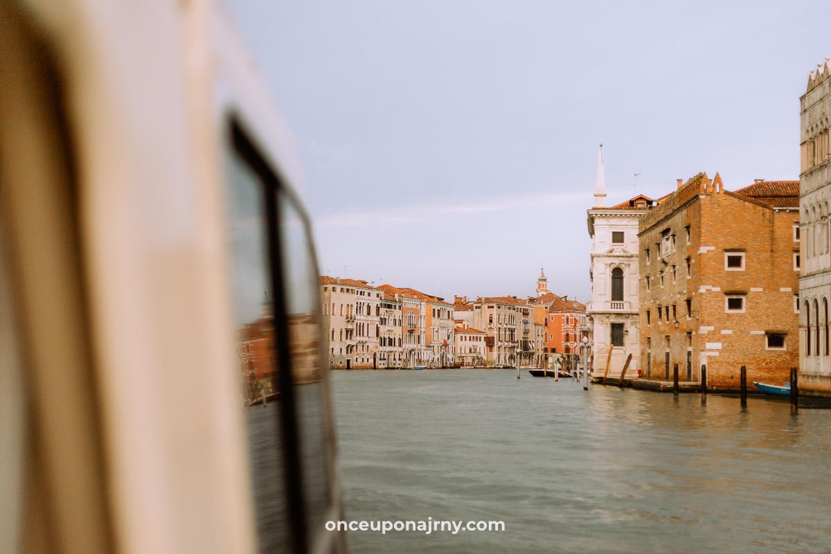 Grand Canal Vaparetto Venice Transport Bus Boat
