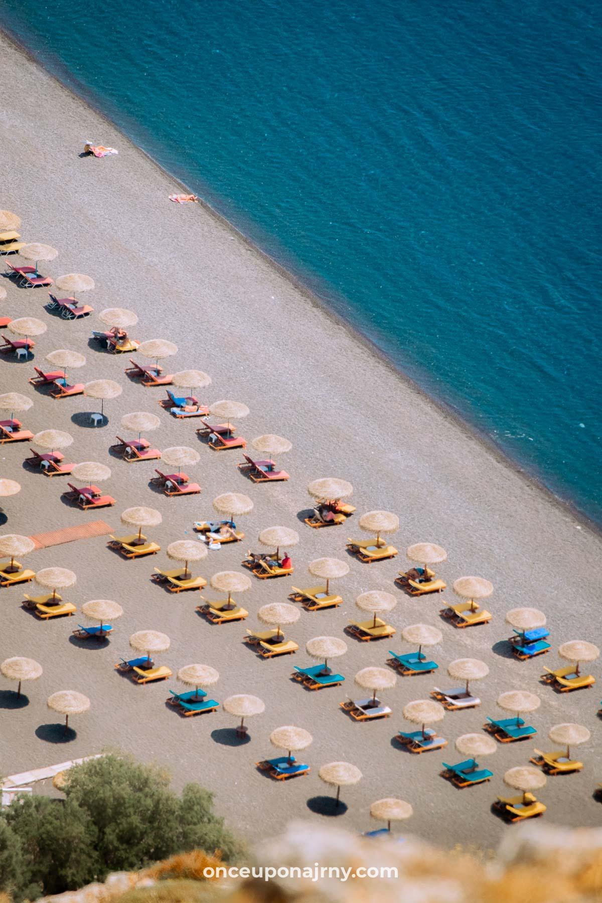 Kamari Beach Santorini itinerary
