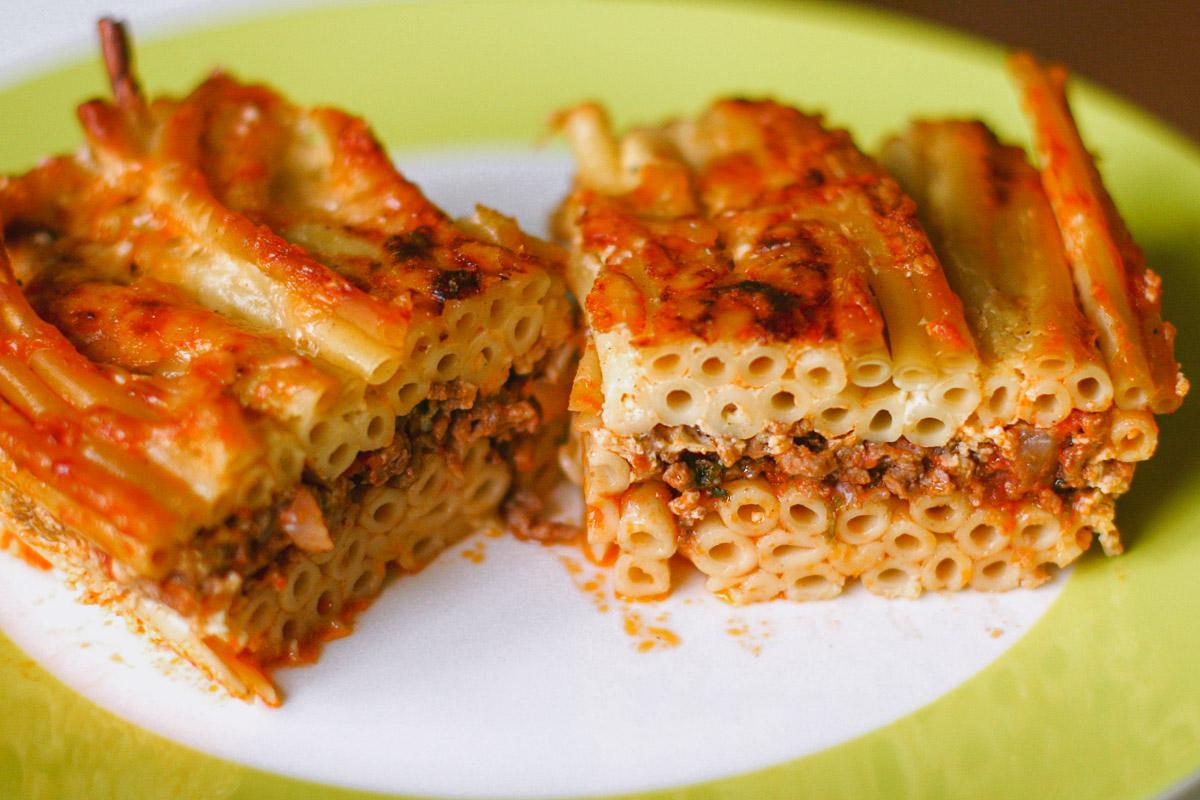 Pastitsio Greek pasta lasagna