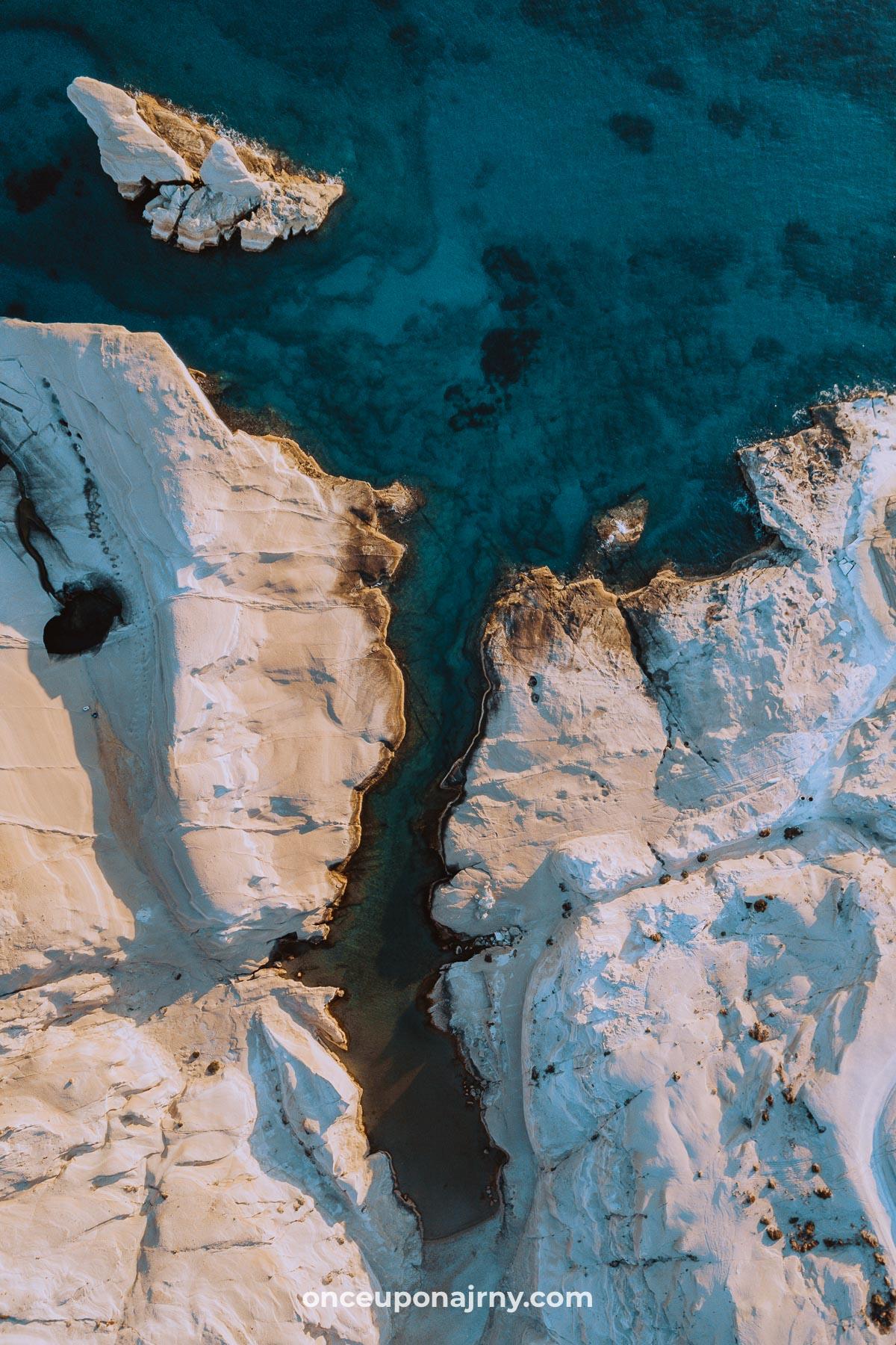 Drone Sarakiniko Beach Milos, Greece