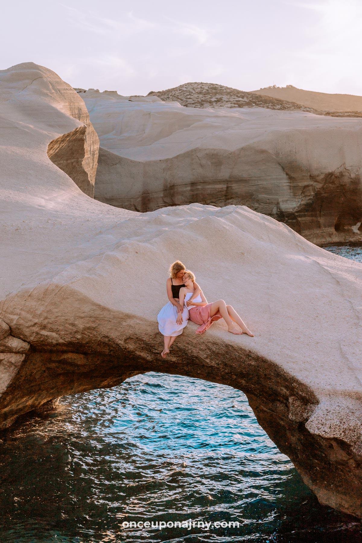 Milos Sarakiniko Beach Arch
