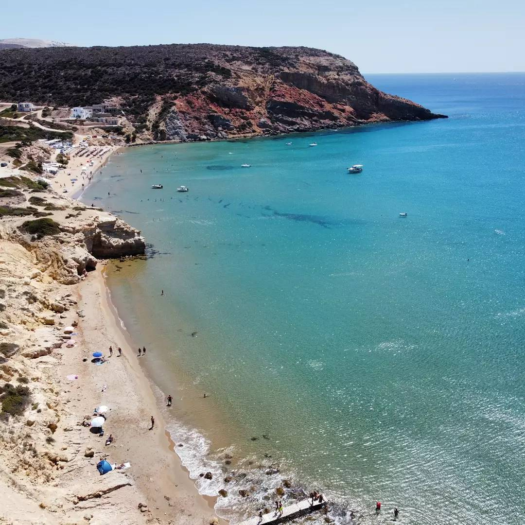 Provatas Beach Milos by @droneexperience.greece