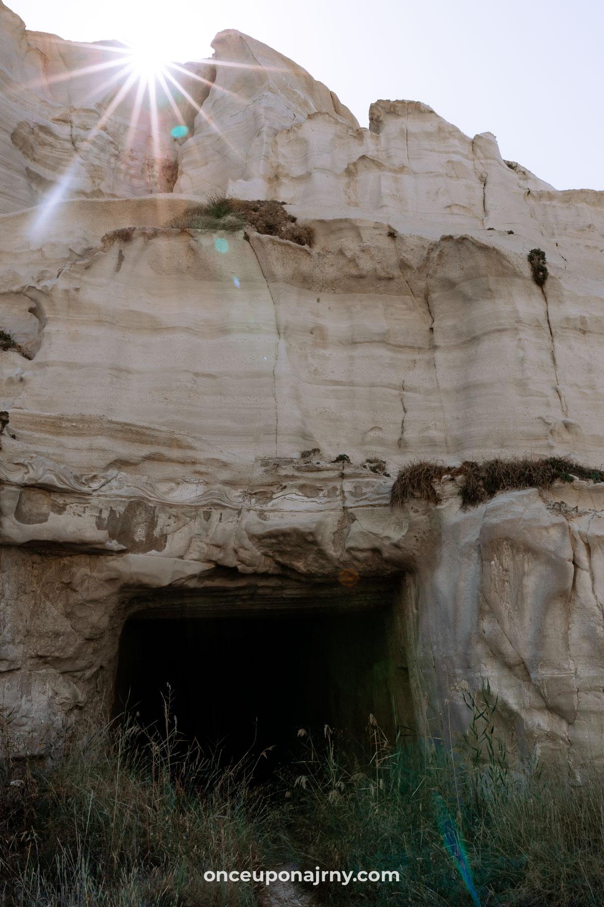Sarakiniko Mine Tunnels Milos