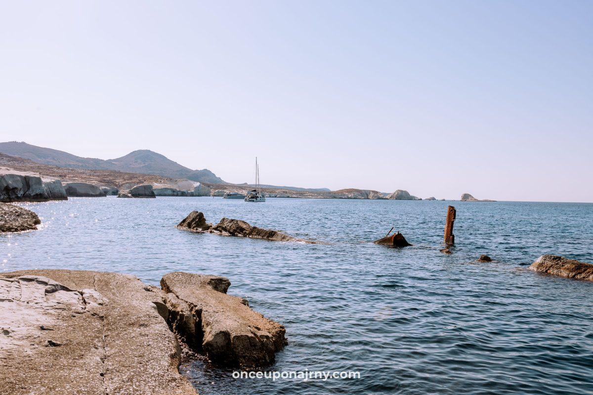 Sarakiniko Shipwreck Milos Greece