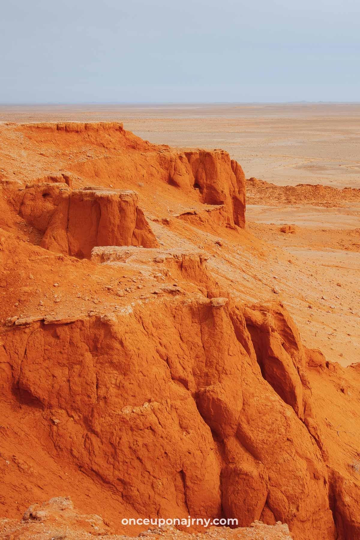 The Flaming Cliffs Gobi Desert Mongolia